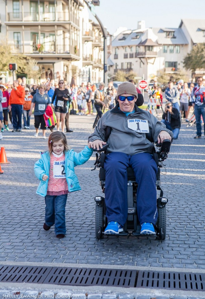 Danny Margagliano and his daughter Summer at the 30A Thanksgiving 10K in Rosemary Beach Florida