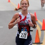 Kari Trappe with Hammer Down at the Gulf Coast Triathlon