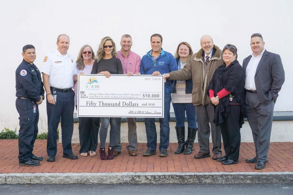 30A 10K Breaks Record with 2016 Donation to Charities