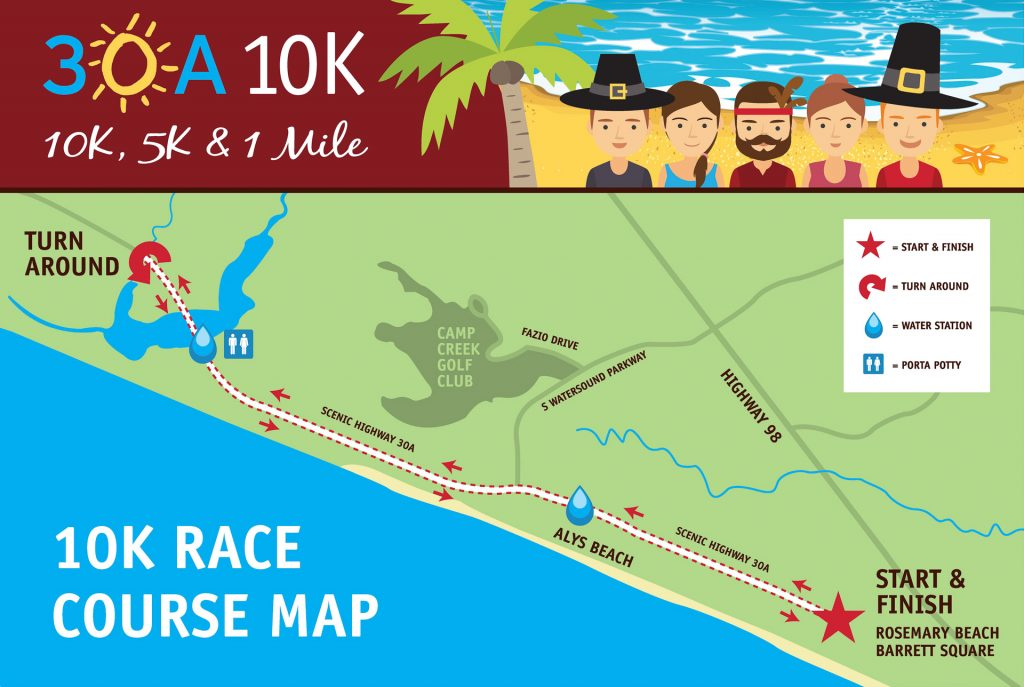 View 30a 10k Course And Parking Map In A Larger Barrett Square Rosemary Beach
